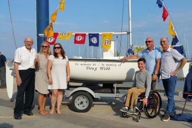Pointe-Claire Wheels in Motion Committee donation to AQVA